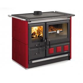 Cuisinière à bois revêtement faïence - Rosa XXL - Maiolica/Bordeaux LA NORDICA EXTRAFLAME