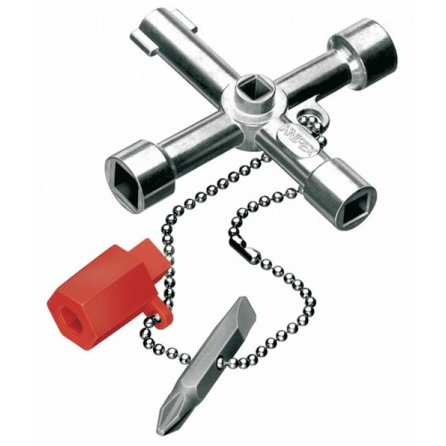 Trousseau de clés maintenance pour armoires de distribution KNIPEX