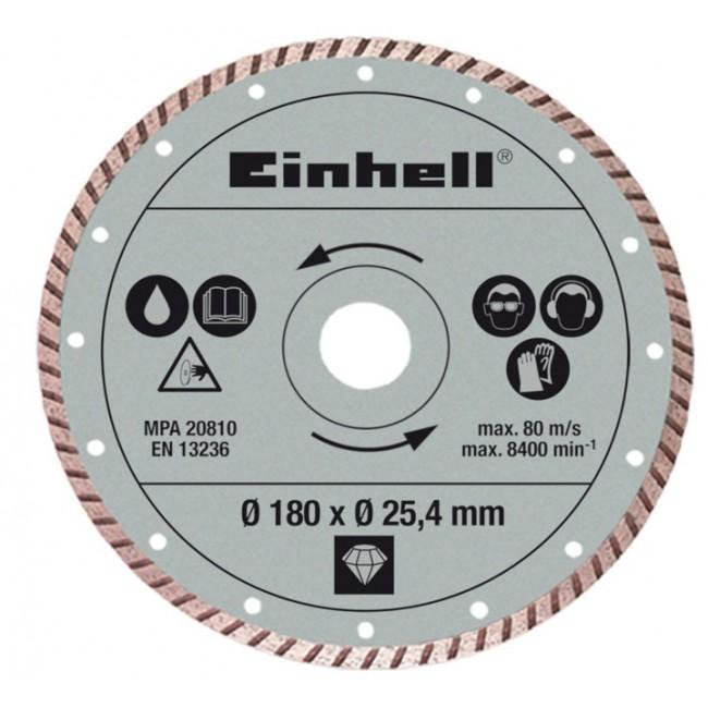 Disque diamant 180 mm pour coupe carrelage bt tc 600 einhell bricozor - Disque coupe carrelage 180 mm ...