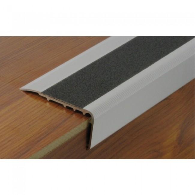 Nez de marche en aluminium avec bande antidérapante protectrice DINAC