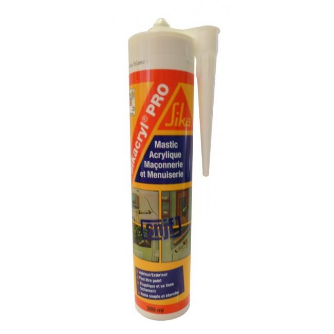 Mastic Guttacryl S2 pour joint de façade - 300 ml SIKA