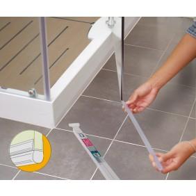 Joint tubulaire bas pour porte de douche - longueur 1 m GEB