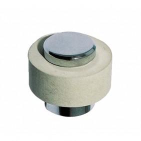 Butoir de sol en laiton chromé - hauteur 25 mm - Luxe CIVIC