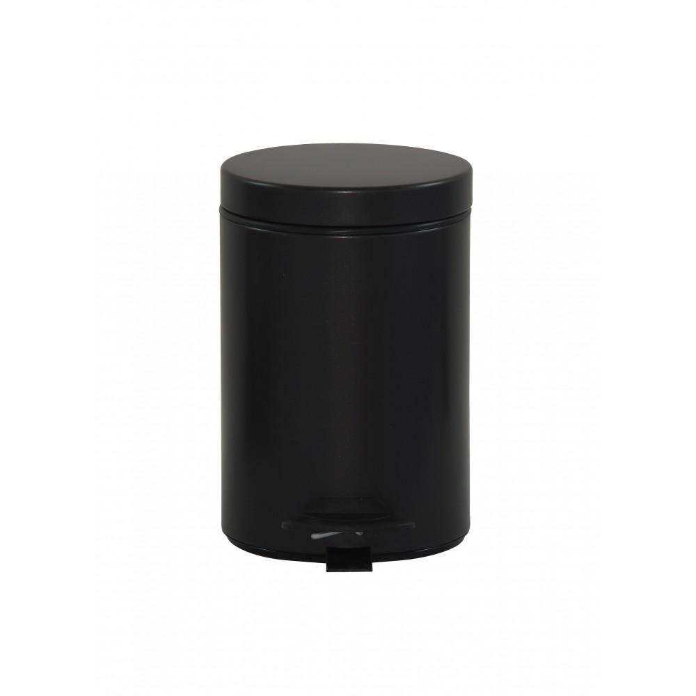 Poubelle salle de bain 3 l noir rossignol bricozor - Poubelle noire salle de bain ...