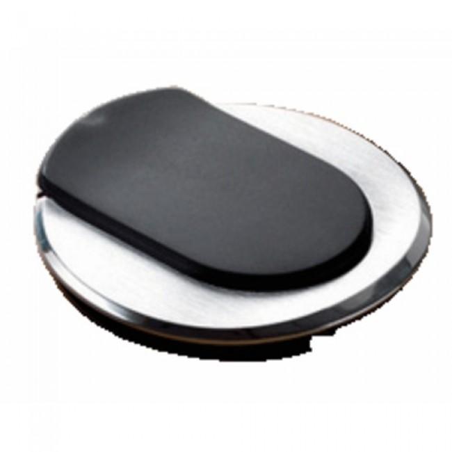 Point de connexion pour bureau : courant + USB, acier brossé PLANET WATTOHM