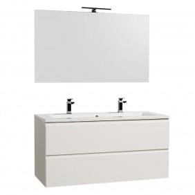 Meuble de salle de bains et miroir -Adele suspendu 120 cm - 2 finitions BATHDESIGN