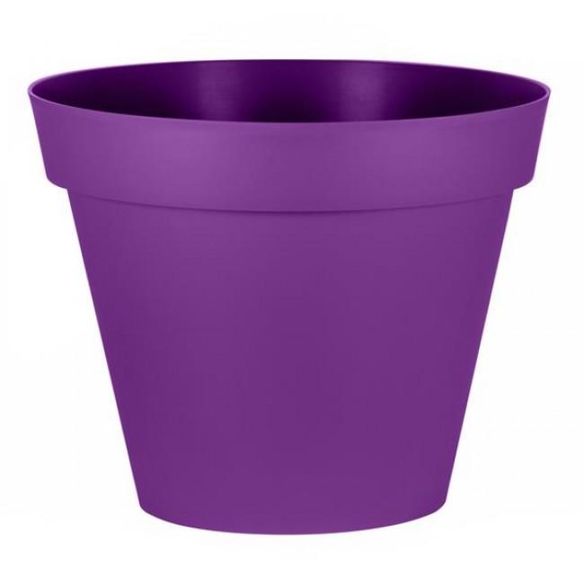 Pot rond prune - diamètre 60 cm- 76 litres - Toscane 13614