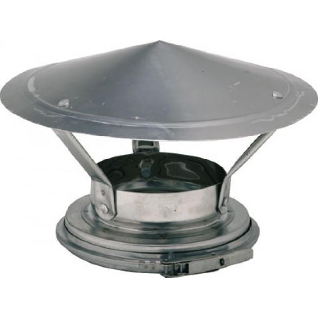 Cône de finition et chapeau en inox 340 avec bride de sécurité