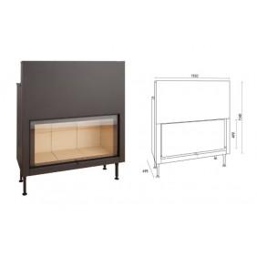 Cadre pour insert à bois -C1150ES/C1250ES TERMOFOC