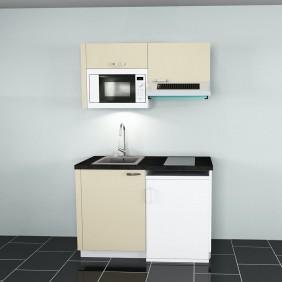 Cuisine aménagée et montée - longueur 1200 mm - 3 coloris CUISIMO