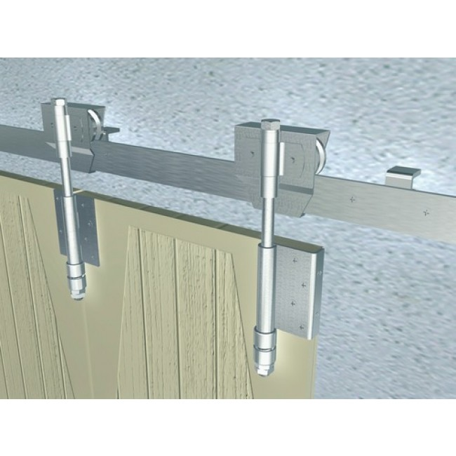 monture galet bob 50 pour ferrure de porte coulissante sur fer plat mantion bricozor. Black Bedroom Furniture Sets. Home Design Ideas