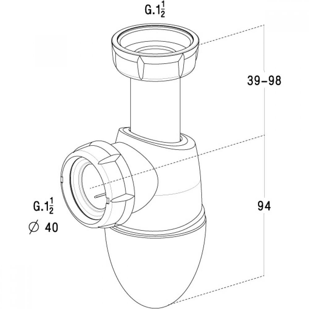 siphon d 39 vier easyphon nicoll bricozor. Black Bedroom Furniture Sets. Home Design Ideas