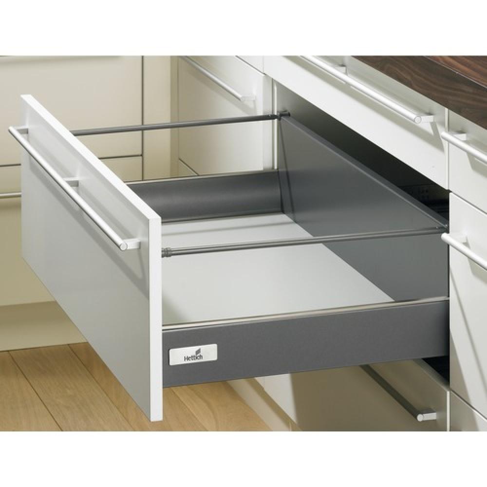 kit tiroir tringles innotech hauteur 176 mm sans coulisses anthracite bricozor. Black Bedroom Furniture Sets. Home Design Ideas