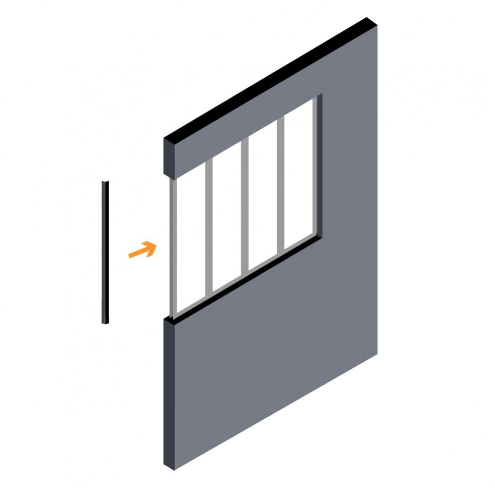 profil de finition pour verri re int rieure kit atelier. Black Bedroom Furniture Sets. Home Design Ideas