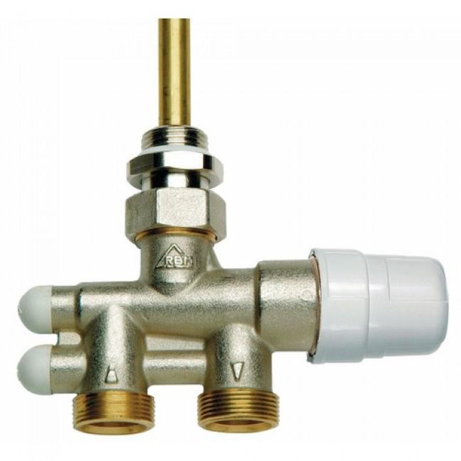 Robinet 4 voies - thermostatisable - installation bitube & monotube RBM