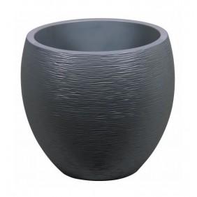 Pot rond - diamètre 50 cm - contenance 46 litres - Graphit anthracite EDA PLASTIQUES