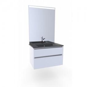 Meuble de salle de bains - double vasque - Britty 2  - 130 ou 80cm AURLANE