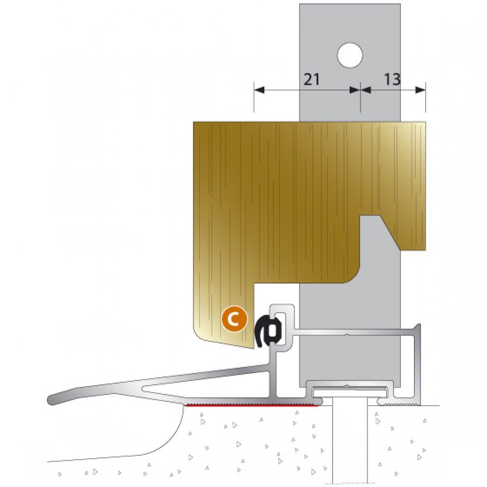 seuil en aluminium oelt pour porte fen tre bois ouvrant vers l 39 ext rieur bilcocq bricozor. Black Bedroom Furniture Sets. Home Design Ideas