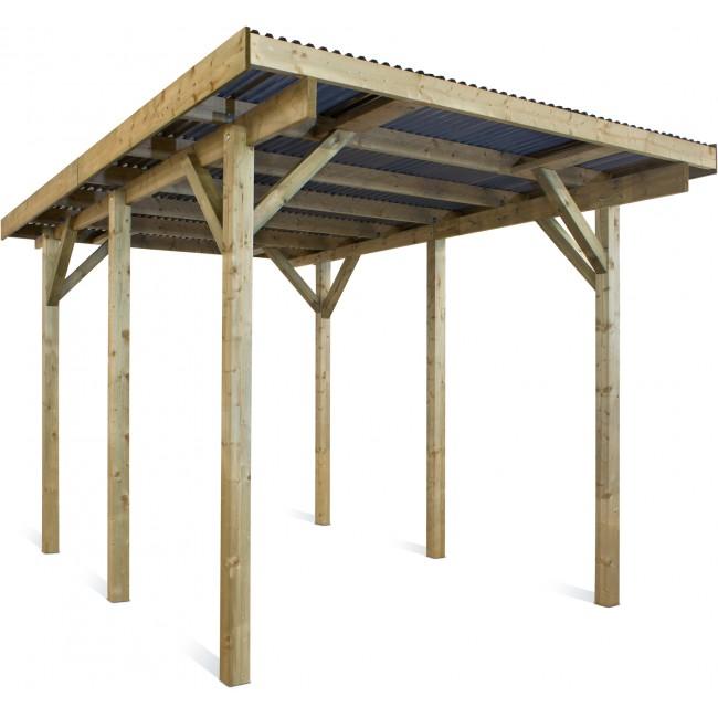 Carport en bois - 1 voiture - 17,5 m² - Evolution 1 JARDIPOLYS