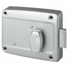 Serrure en applique pour porte de garage - à bouton - 6903 MÉTALUX