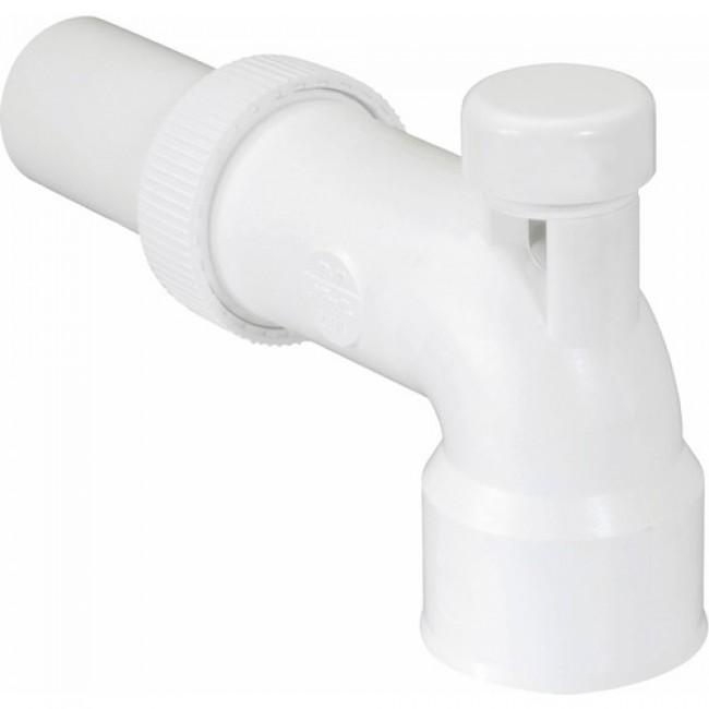 Sortie coudée de lavabo - PVC réglable - avec anti-vide NICOLL