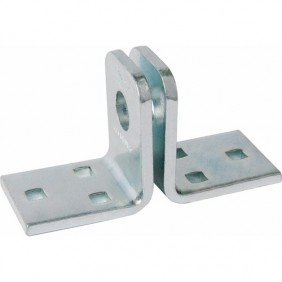 Porte-cadenas équerre - œillets 14 mm - en acier cémenté - 115 ABUS