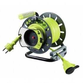 Enrouleur électrique de jardin - Pro XT - 25 m - disjoncteur thermique LUCECO