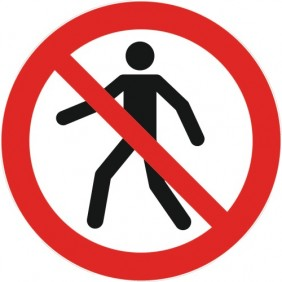 Disque d'interdiction adhésif au sol NOVAP
