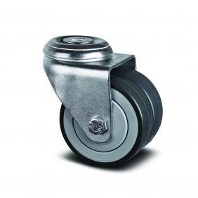 Roulette double pivotante - avec pare-fils - ø75mm - Agila Twin TENTE
