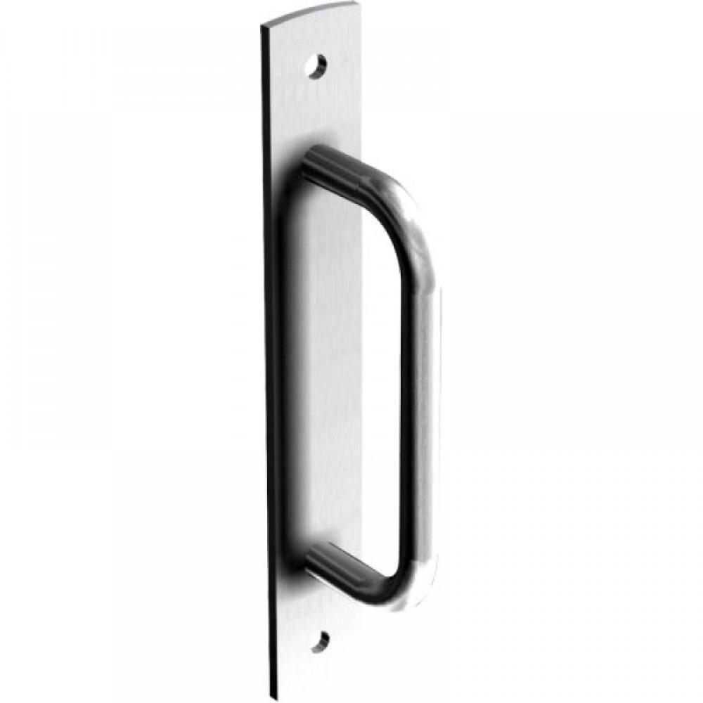 Poignée de tirage courbée pour porte et portail coulissant