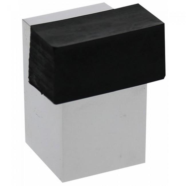 Butée de porte en laiton chromé - dimensions 25 x 37 mm  - type 3022 FERRASSE