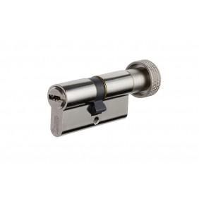 Cylindre à bouton de sûreté - nickelé - 5 clés brevetées - Velix VACHETTE