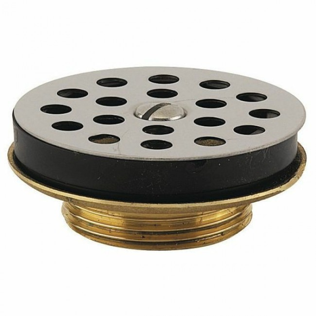 Bonde de lavabo - laiton - 33x42 - grille inox VALENTIN