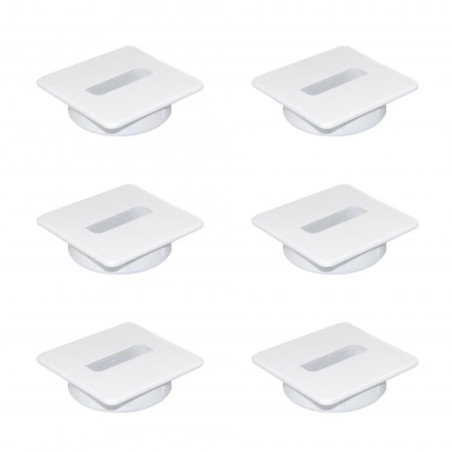 Passe-câble carré - encastré - bureau et plan de travail - Plastwin EMUCA