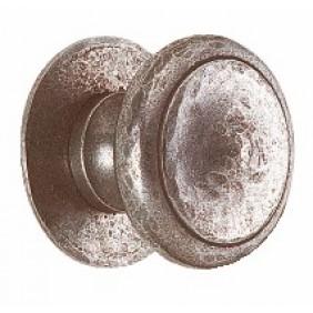 Bouton de porte rustique en fer martelé, modèle 47 BOUVET