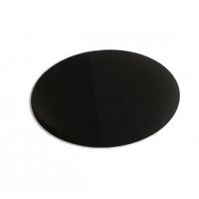 Plaque de sol crystal noir - poêle à bois et poêle à granulés - ronde LA NORDICA EXTRAFLAME