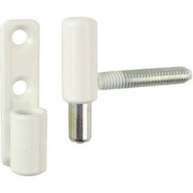 Fiche à visser PVC - nœud plat Ø 13 mm - vis cachées OTLAV