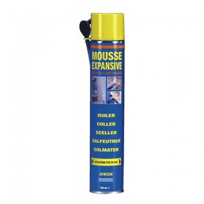 Mousse polyuréthane - bombe manuelle - 750 ml AYRTON