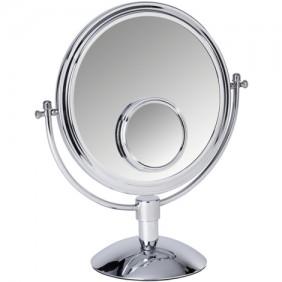 Miroir grossissant x3 et x7 sur pied - Chrome WENKO