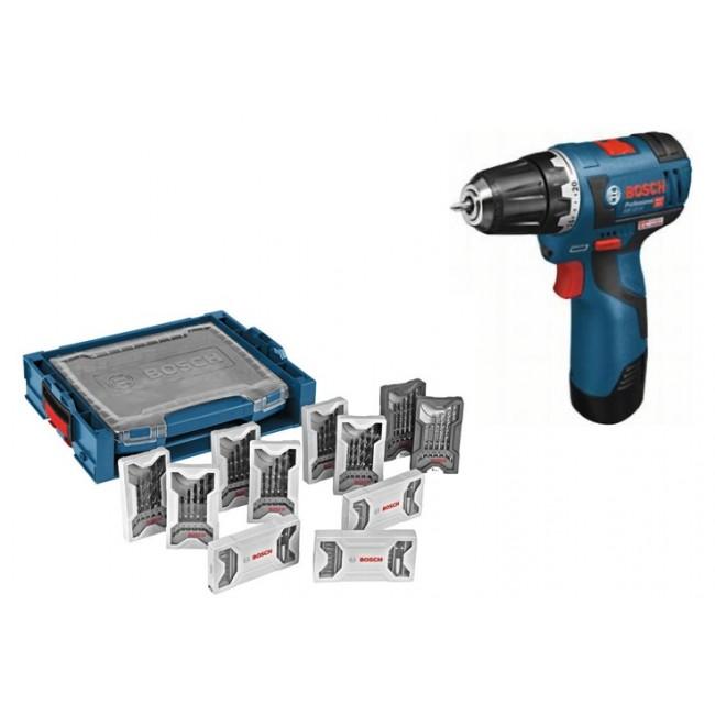 Perceuse visseuse sans fil GSR 12V-20 3Ah - 06019D4005 + coffret accessoires BOSCH