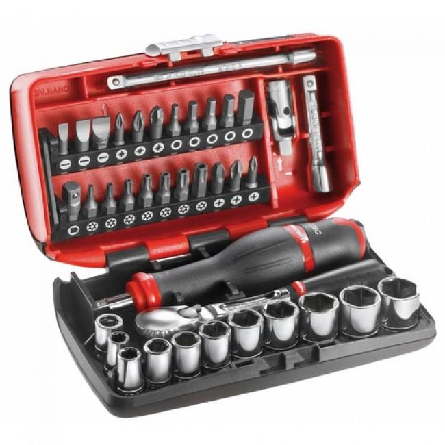 """Coffret compact 38 outils douilles -Cliquet 1/4"""" - Vissage : RL.NANO1 FACOM"""