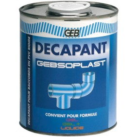 Décapant PVC avant collage - tube de 125 ml - Gebsoplast GEB
