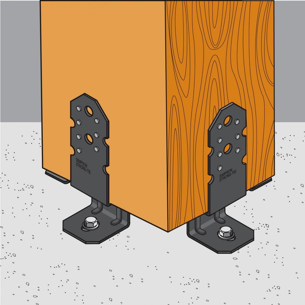 pied de poteau de pergola pbp60 50 simpson strong tie bricozor. Black Bedroom Furniture Sets. Home Design Ideas