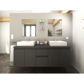 Meuble de salle de bain 150cm - Cologne - 3 finitions BAIN ROOM