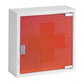 Armoire à pharmacie - vide - métal laqué - porte verre FARMOR