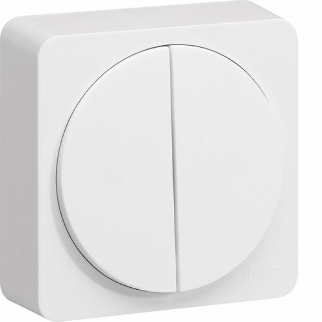 Double interrupteur - multifonction - complet - Ateha HAGER