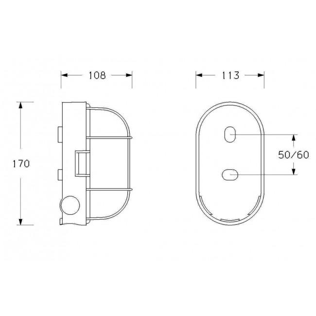 plafonnier source halog ne e27 ovale ebenoid bricozor. Black Bedroom Furniture Sets. Home Design Ideas