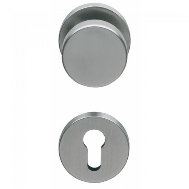Poignée de porte et bouton fixe pour porte palière - inox 316 NORMBAU
