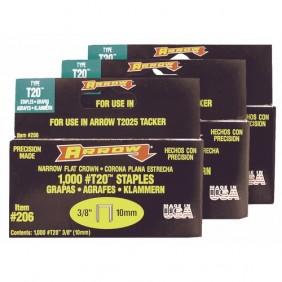 Agrafes rectangulaires T20 - boite de 1000 ARROW