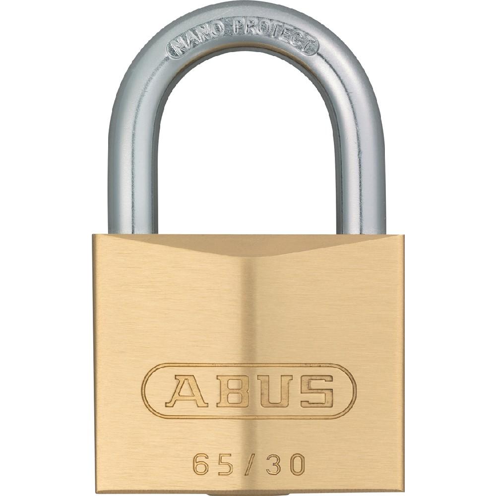 Abus 30610/Cadenas monobloc en laiton avec gaine en acier et cl/é commune 8511